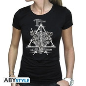 Harry Potter - Deathly Hallows Women's Large T-Shirt - Black