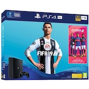 PlayStation 4 Pro (1TB) Black Console With FIFA 19 Ultimate Team Icons and Rare Player Pack