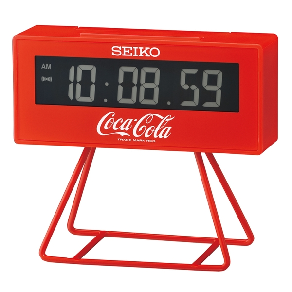 Seiko QHL901R Limited Edition Coca-Cola LCD Alarm Clock Red