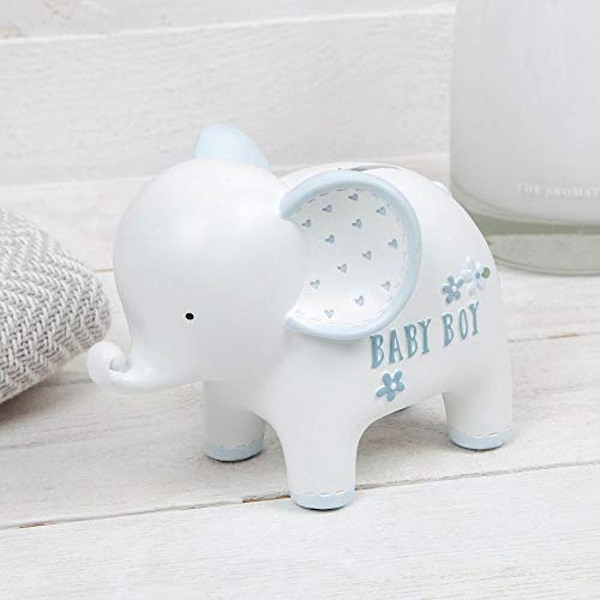 Petit Cheri Elephant Money Box - Baby Boy
