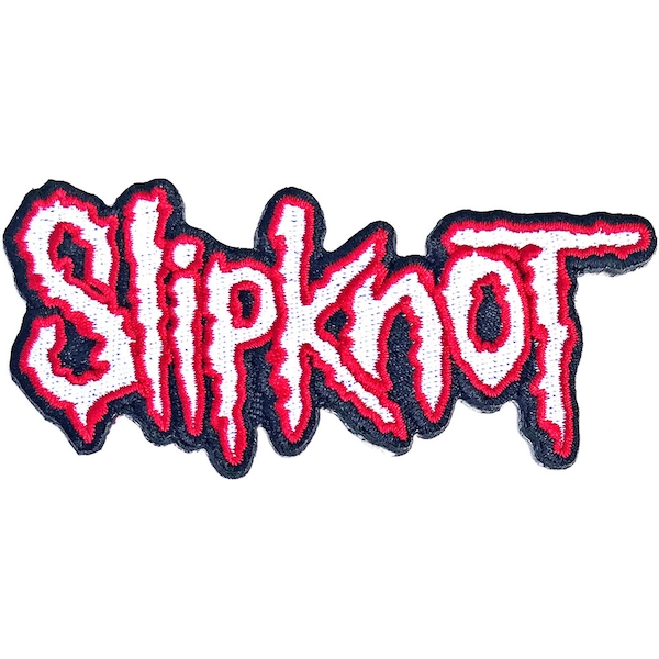 Slipknot - Cut-Out Logo Red Border Standard Patch