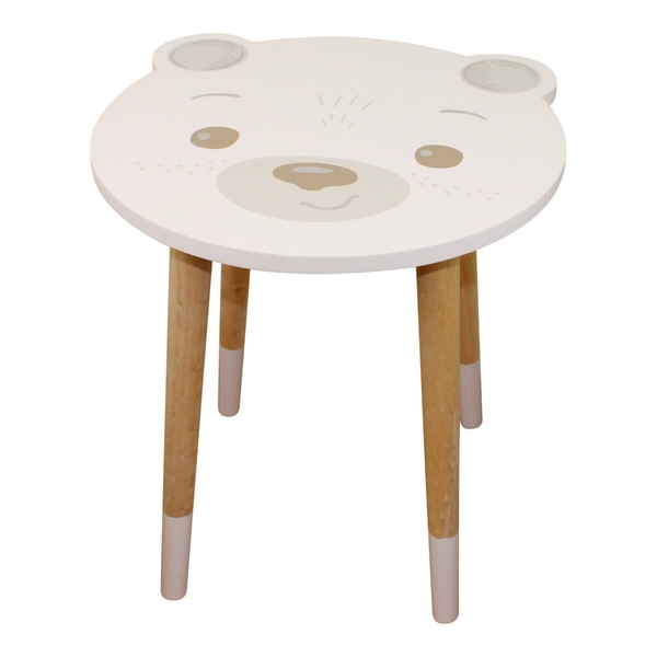 Baby Bear Wooden Side Table, Bear Design
