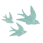 Sass & Belle Swallow Wall Decorations Duck Egg (Set of 3)