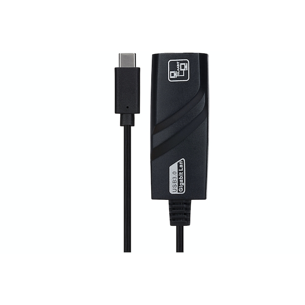 Maplin USB Type-C To Gigabit Ethernet Adapter - Black