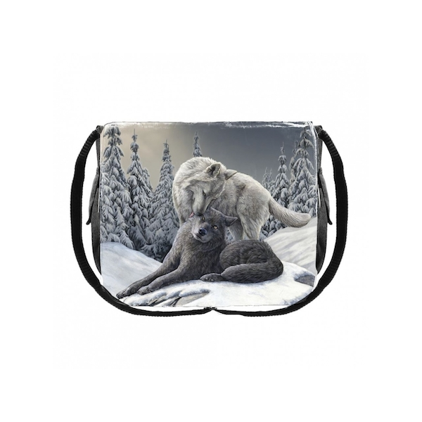 Snow Kisses Messenger Bag