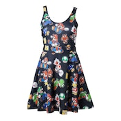 Nintendo Super Mario Bros. Female Characters & Icons Small Sleeveless Dress