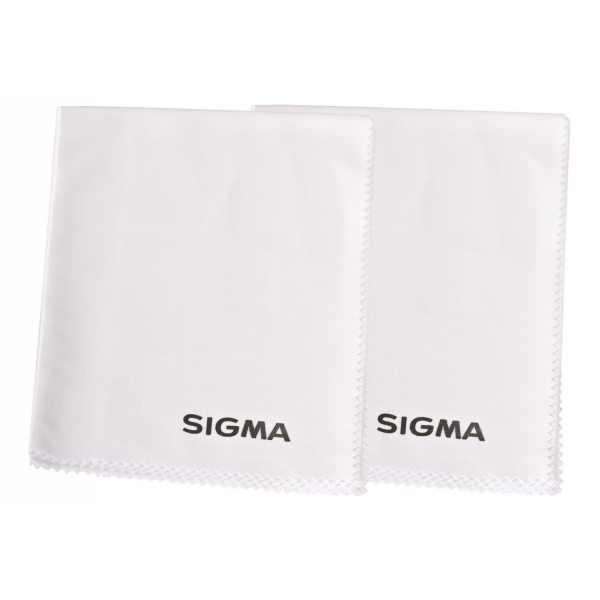 Sigma Large White Micro Fibre Lens Cleaning Cloth Twin Pack