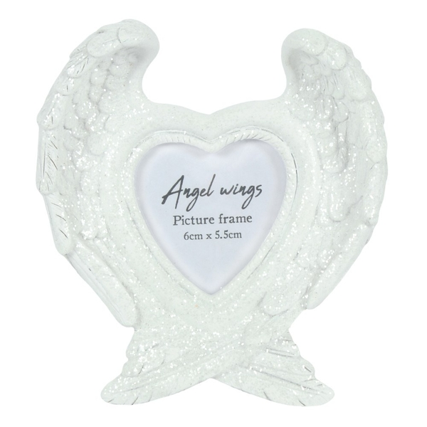 Glitter Angel Wing Picture frame