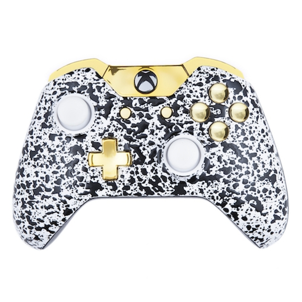 3D White & Gold Xbox One Controller - 365games.co.uk Xbox 360 Controller Designs Gold