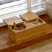 Bamboo Spice Salt & Pepper Box (with 2 spoons) | M&W - Image 2