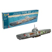 U-Boat XXI Type with Interior 1:144 Revell Model Kit