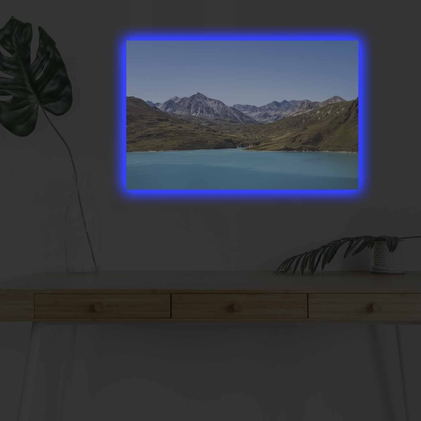 4570DHDACT-134 Multicolor Decorative Led Lighted Canvas Painting