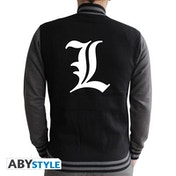 Death Note - L Symbol Men's Small Jacket - Black/Dark Grey