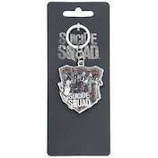DC Comics Suicide Squad The Squad Printed Shield Keychain