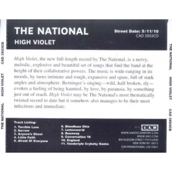 The National - High Violet CD