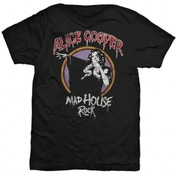 Alice Cooper Mad House Rock Mens Black T-Shirt: Large
