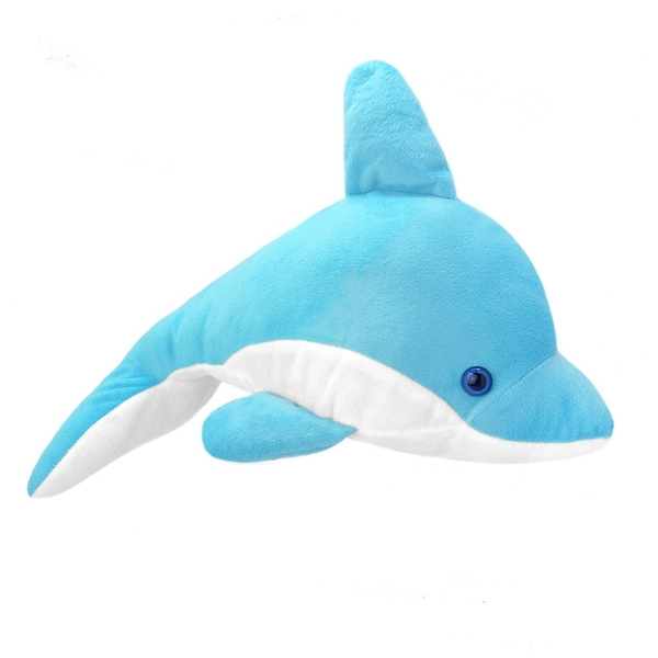 All About Nature Dolphin Blue 35cm Plush With Sound