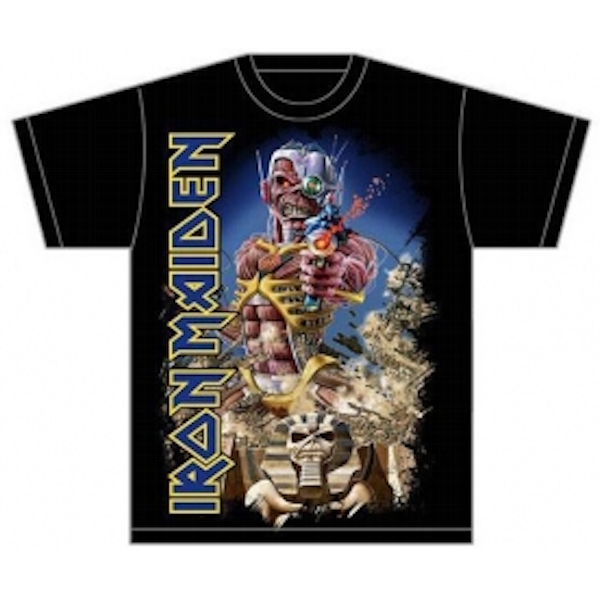 Iron Maiden Somewhere Back in Time Jumbo Mens T Shirt Small