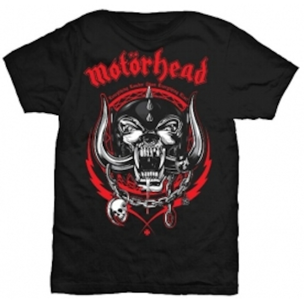 Motorhead Lightning Wreath Mens Black TShirt: Small