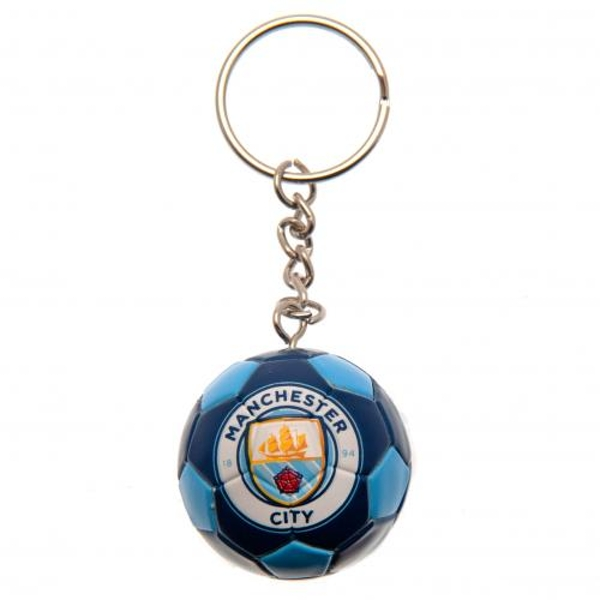 Manchester City FC Football Keyring