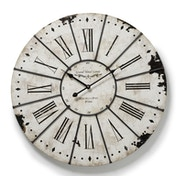 Large Antiqued Roman Numeral Wall Clock