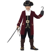 Deluxe Pirate Captain Costume With Jacket 7-9 Years