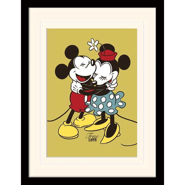 Mickey & Minnie Mouse - True Love Mounted & Framed 30 x 40cm Print