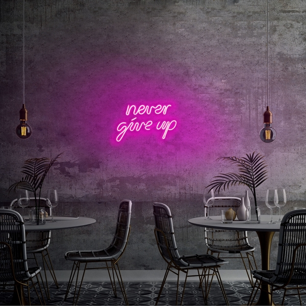 Never Give Up - Pink Pink Wall Lamp
