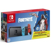 Nintendo Switch Console with Neon Red & Blue Joy-Con Controllers Fortnite Edition