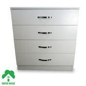 Wooden Chest of Drawers, Bedside Cabinet Bedroom Furniture Green House 4 Drawer Chest White