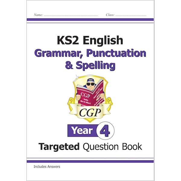 KS2 English Targeted Question Book: Grammar, Punctuation & Spelling - Year 4 by CGP Books (Paperback, 2014)