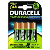 Duracell PreCharged Rechargeable 1950 mAh AA Batteries - 4-Pack