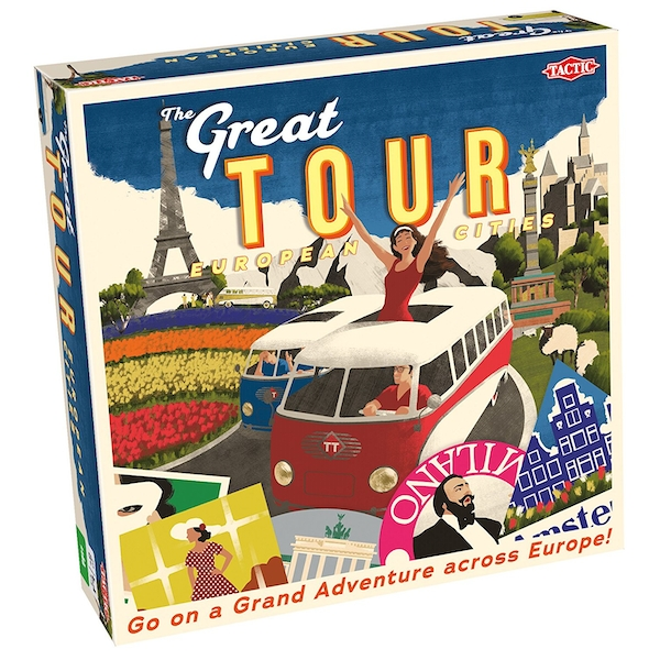 The Great Tour European Cities Board Game