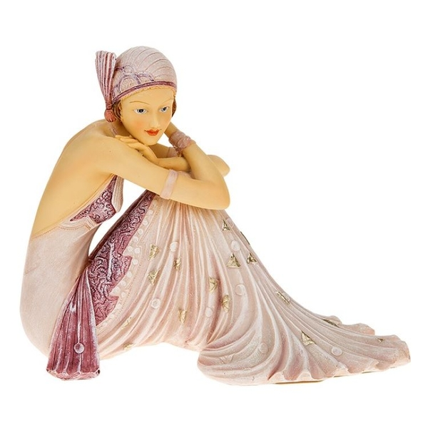 Deco 1930s Girl Sitting Lilac Ornament