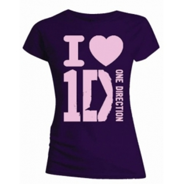 One Direction I Love 1D Skinny Dark Purple TS: Small