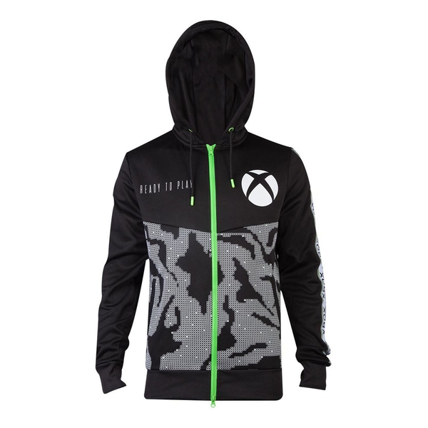 Microsoft - Tech All-Over Print Men's Large Hoodie - Black