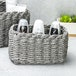 Woven Rope Storage Baskets - Set of 3 M&W Grey - Image 4