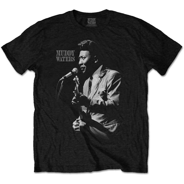 Muddy Waters - Muddy Live Men's Large T-Shirt - Black
