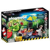 Playmobil Ghostbusters Hot Dog Stand with Slimer