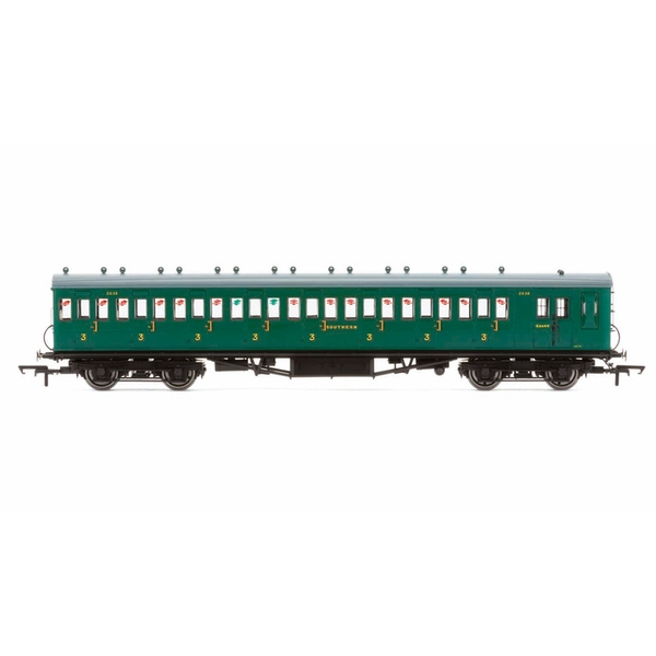 Hornby R4717A 58' Maunsell Rebuilt (Ex-LSWR 48') Eight Compartment Brake Third 2638 'Set 44' Era 3 Model Train