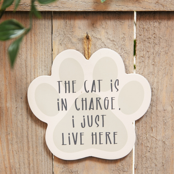 Best of Breed Wooden Plaque - Cat In Charge
