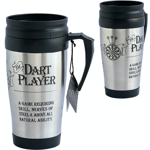 Ultimate Gift for Man Travel Mug Dart Player