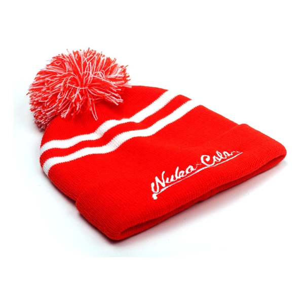 Fallout - Embroidered Nuka-Cola Logo Unisex One Size Beanie - Red/White