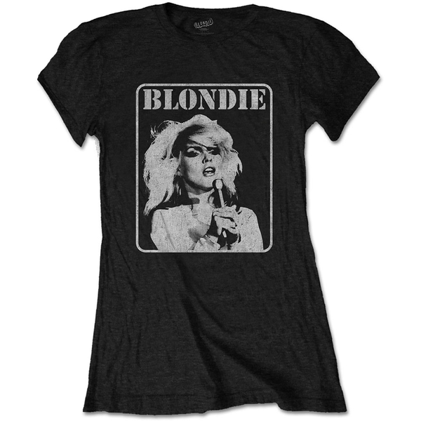 Blondie - Presente Poster Women's Small T-Shirt - Black