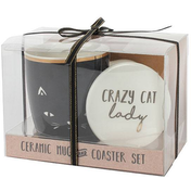 Crazy Cat Lady Mug and Coaster Set