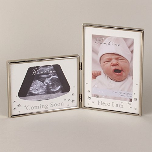 Bambino Silver Effect Double Scan Frame - Here I am
