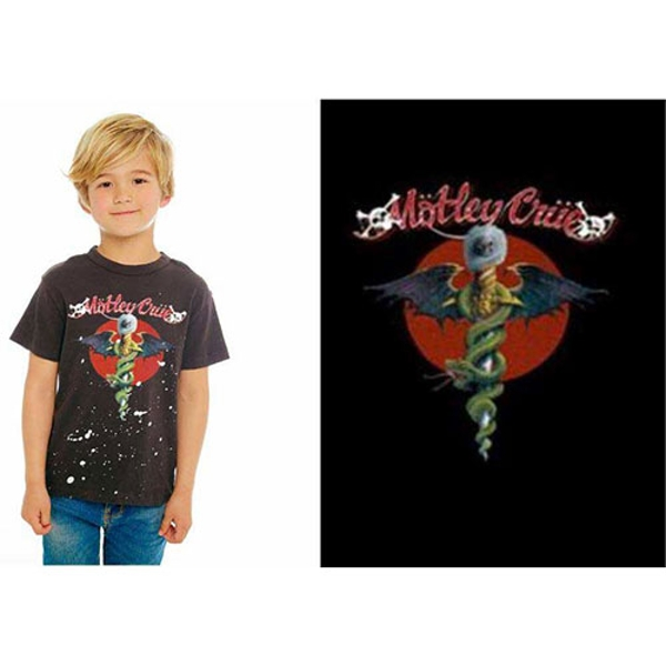Motley Crue - Feelgood Red Circle Kids 11 - 12 Years T-Shirt - Black
