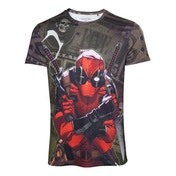 Deadpool - Dollar Bills Men's Large T-Shirt - Multi-colour