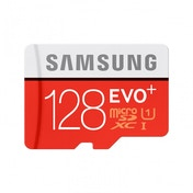 Samsung Memory 128 GB EVO Plus MicroSDXC UHS-I Grade 1 Class 10 Memory Card with SD Adapter