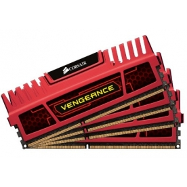 Corsair Vengeance Red 8GB 1600MHz CL8 DDR3 Memory Quad Kit CMZ8GX3M4X1600C8R